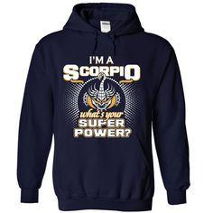 (Top Tshirt Fashion) Scorpio superpower [TShirt 2016] Hoodies Tee Shirts