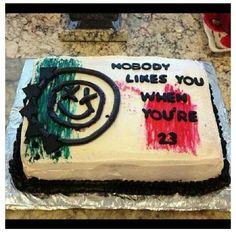 Blink 182 bday cake