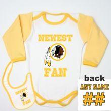 2a15431df Washington Redskins Baby Bodysuit Yellow