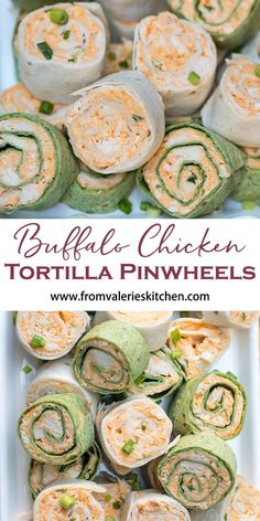 Buffalo Chicken Tortilla Pinwheels The totally irresistible flavor of Buffalo chicken wings all rolled up into a portable party snack. These Buffalo Chicken Tortilla Pinwheels are guaranteed to be a hit at your next. Finger Food Appetizers, Yummy Appetizers, Appetizers For Party, Finger Foods, Appetizer Recipes, Cream Cheese Recipes Dinner, Birthday Appetizers, Chicken Appetizers, Parties Food
