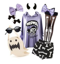 """""""Pastel Goth"""" by cosmicstarprince ❤ liked on Polyvore featuring Boohoo and Dorothy Perkins"""