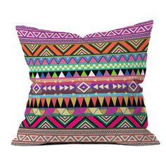 Fun #outdoor #throwpillow alert! #tribal #pattern >> DENY Designs Bianca Green Overdose Outdoor Throw Pillow