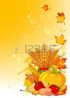 gerbe: la conception de récolte avec des potirons dodus, le blé, les légumes et les feuilles d'automne Vecteurs