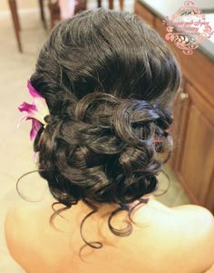 Bridal updo by Sugar and Spice salon in St. Thomas, US Virgin Islands