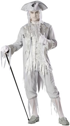 Stalk around the old grounds in this Corpse Count Costume. This unique ghost costume for men is great for Halloween or Christmas' The Ghost of Christmas Past. Ghost Halloween Costume, Ghost Costumes, Adult Halloween, Spirit Halloween, Adult Costumes, Halloween Ideas, Halloween Party, Sister Costumes, Halloween Tricks