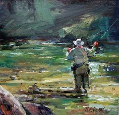 """Above Avery""  oil painting  Mary Maxam"