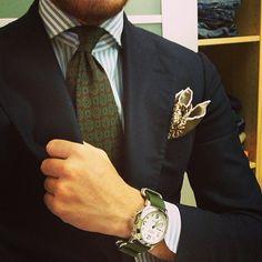 outfit: Watch = Panerai Luminor Marine with Zulu Strap Suit = CHIAIA-Napoli Shirt = CHIAIA-Napoli Tie = Marinella Vintage...