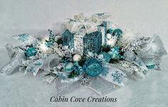 Christmas Gift Box Centerpiece Decorative by cabincovecreations