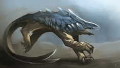 """themurling: Day 16: """"Bulette"""".The landshark stalked the bedouins for days, and it's hunger grew fiercer by the moment, now.The horrified shouts and scampering of the prey only made this predator more aggressive, and soon the camp was in shreds."""