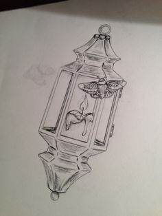 Wip lantern tattoo illustration