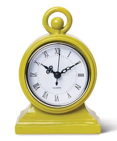 Chartreuse Mod Clock by Foreside