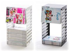 Standing or Hanging magazine storage / magasinet !  www.lapadd.com