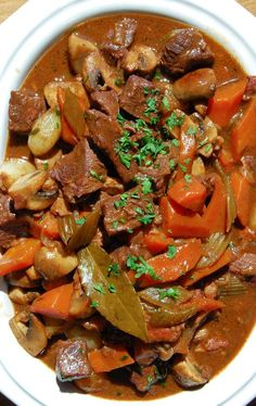 Beef Burgundy. This is comfort food at its finest. Julia Child put beef burgundy…