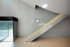 david adjaye adds light box villa to sifang art museum site in china Nanjing, House Staircase, Stairs, Villa David, Stair Detail, Stair Handrail, Interior Design Inspiration, Art Museum, Living Spaces
