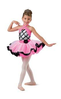 NWT Short Tutu ballet costume Fushia Glittered Organdy Ch//Plus szs sequin choker