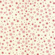 Cookie Exchange Red on Vanilla Snowflakes Yardage by Sweetwater