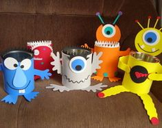 This would be cute for holding silverware and straws Kids Crafts, Halloween Crafts For Toddlers, Cute Crafts, Toddler Crafts, Preschool Crafts, Monster First Birthday, Monster Birthday Parties, 2nd Birthday Parties, Monster Party