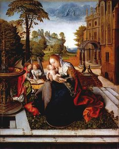 Virgin and Child with Angels, about 1515, Barend van Orley, Metropolitan Museum of Art, New York.