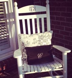 Great House Warming Gift - two chairs painted and monogrammed...