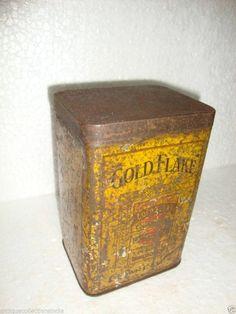 Vintage Rare Gold Flake Cigarettes Litho Print Advertising Tin Box