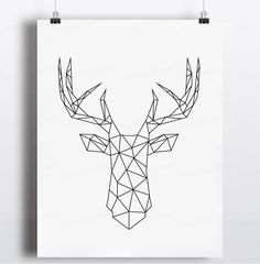 Aliexpress.com : Buy Geometric Deer Head Canvas Art Print Poster, Wall Pictures for Home Decoration, Wall decor FA221 8 from Reliable picture manufacturers suppliers on 900D  | Alibaba Group