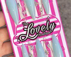 Custom Press On Acrylic Nails Set of 10 any Size & Shape | Etsy Gel Nail Polish, Gel Nails, Olive Nails, Acrylic Nail Set, Nail Sizes, Press On Nails, Nail Tech, You Nailed It, Really Cool Stuff