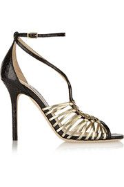 897610cb5548 Black leather and suede lace-up pump from Jimmy Choo. The Dixon has a 65mm  heel