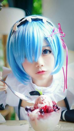 Rem cosplay Anime from: Re:zero