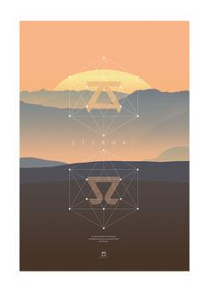 Poster 50x70cm - Eternal, Alpha & Omega - atelierdubarbu.com - certitude.fr #bible #verset #poster #deco #print #design #minimalist #nature #dieu #jesus #chretien #amour #univers