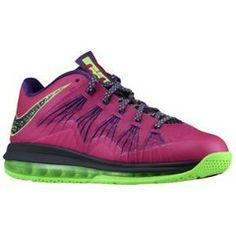 timeless design f5a68 376bf Nike Air Max Lebron X Low - Mens - Basketball - Shoes - Rasberry RedCourt  PurpleFlash Lime