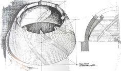 """Es circular, aunque es octogonal. Construyó en  espiral. Comienzo a trabajar en esta entrada a partir de la noticia del descubrimiento de """"la maqueta"""" o el modelo empleado por Filippo Brunelleschi, para la cúpula de la Catedral de Florencia, llevo ya un rato y me parece que me estoy metiendo en un lío... ..."""