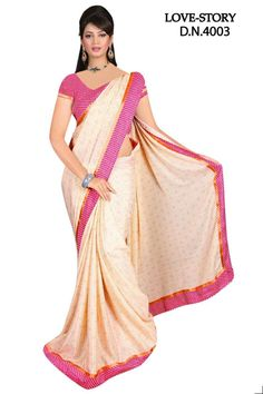 Sakshi Love Story Collection Deep Peach Color Georgette Saree (Offer Price: Rs 1250 , Offered Discount: 31%) ** BUY NOW ** [MRP: Rs 1800]