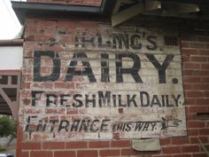 Ghost sign, sign writing, hand lettering, typography