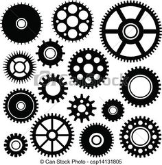Vector Clipart of Gears set - Vector set of some gears csp14131805 ...