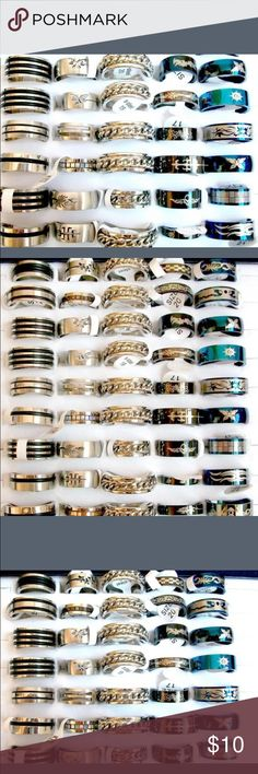 Men's Stainless Steel Ring Just let me know which ring and size that you want and that is what i will send. Jewelry Rings