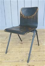 7252 - Vintage Distressed Stacking Chairs
