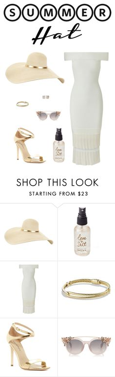 """""""Top It Off: Summer Hats"""" by ice058 ❤ liked on Polyvore featuring Olivine, Roland Mouret, David Yurman, Via Spiga, Kate Spade and summerhat"""