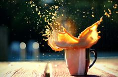 Stop Motion Photography | Amaze Pics & Vids. Drinking coffee very well might be an explosive way to start your morning, especially if you drop a large something-or-other into your ceramic coffee mug. Lol.