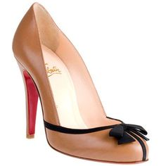 Taupe Christian Louboutin Lavalliere 100mm Leather www.facebook.com/...