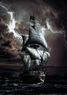 Poseidon Tatoo, Pirate Ship Drawing, Ship Tattoo Sleeves, Pirate Ship Tattoos, Old Sailing Ships, Pirate Art, Ship Paintings, Tall Ships, Pirates Of The Caribbean