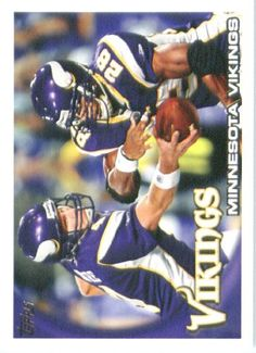 2010 Topps NFL Football Card # 188 Brett Favre / Adrian Peterson TC - Minnesota Vikings (Team Card) NFL Trading Card in a Protective ScrewDown Case! by Topps. $2.95. 2010 Topps NFL Football Card # 188 Brett Favre / Adrian Peterson TC - Minnesota Vikings (Team Card) NFL Trading Card in a Protective ScrewDown Case!