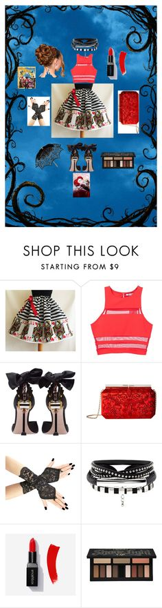 """""""Alice through the looking glass."""" by izzygk ❤ liked on Polyvore featuring T By Alexander Wang, Miu Miu, Oscar de la Renta, Kat Von D, Remedios, contestentry and DisneyAlice"""