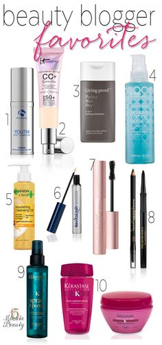 favorite beauty blogger products, interesting to see what the bloggers use up (and then repurchase!)