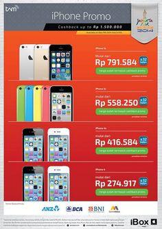 iBox: Promo iPhone Cashback up to IDR 1,500,000 (BNI, BCA, ANZ, Bank Mega )