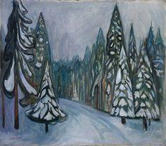 Edvard Munch  New Snow, oil on canvas, 1900-01
