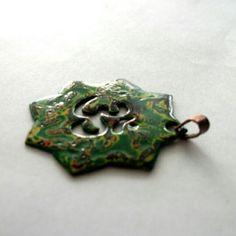 Colgante cobre y lacado japonés.  contacto@infinitastore.com @infinitastore