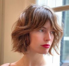 Looking for the best way to bob hairstyles 2019 to get new bob look hair ? It's a great idea to have bob hairstyle for women and girls who have hairstyle way. You can get adorable and stunning look with… Continue Reading → Curly Hair With Bangs, Short Hair Cuts, Curly Hair Styles, Thin Hair, Bob Cut Hair, Short Bob Bangs, Short Shaggy Bob, Wavy Bob Long, Bob Haircut Curly