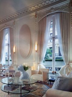 This is a great classical look. Seamless integration of windows and walls with panels and beautiful architectural detailing and ornamentation.