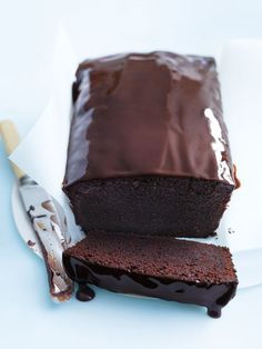 chocolate pound cake from donna hay with rich pourable glaze