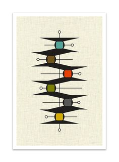 GLIDE Giclee Print Mid Century Modern Danish Modern by Thedor